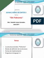 Estructuras de Datos POLINOMIO