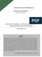 Monitoreo - Análisis de Coyuntura y Evolución de Precios de La Harina Fuerte de Trigo en El Salvador