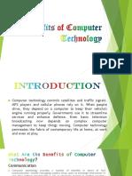 Benefits of Computer Technology