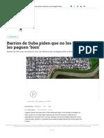 Qué Pasa Con Los Barrios Aledaños Al Río Bogptá - Bogotá - ELTIEMPO.com