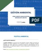 Gestión Ambiental_Política Ambiental