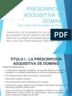 Prescripción adquisitiva de dominio