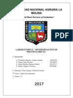Informe 2 de Análisis de Alimentos Determinación de Proteina