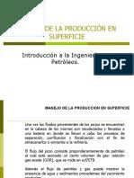 MANEJO DE LA PRODUCCIÓN EN SUPERFICIE