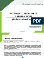 Tratamiento Procesal de La Prueba Ilicita. Nulidad e Ineficacia. Magaly Vasquez
