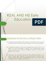 Rizal and Early Education