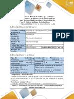 Guía de Actividades y Rúbrica de Evaluación -Paso 3- Vulnerabilidad de Individuos y Comunidades Desde La Neurociencia Social