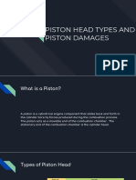 Piston Head Types and Piston Damages