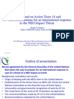 Action Team 14 and UN Recommendations on NEO Threat- S Camacho - Final