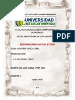 Memorandum de Control Interno Objetivos BIEN
