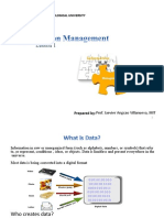 Lesson 1 Information Management