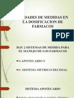 3.1.. Unidades de Medidas  DE Dosificacion de Farmacos