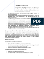 Phd Proposal writing guidelines