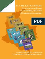 Los procesos e paz en colombia
