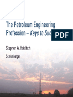 The Petroleum Engineering Profession