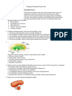 Soal UHT Biologi KD 3.1-3.4 dan 4.1-4.4