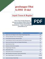 01 Pengembangan Obat - Aspek Umum & Regulasi