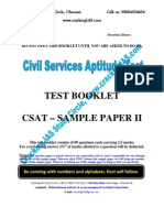 CSAT PAPER 2 No Answers