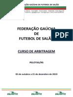 Fgfs - Curso de Arbitragem - Pelotas - Edital e Ficha de Inscricao