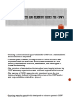 Cocd (Core Competencies and Training Issues for Chw's)
