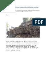 Parámetros de un macizo rocoso