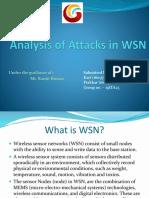 Analysis Attacks WSN