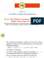 __25.4.4 - The Method of Variation of Parameters Higher Order