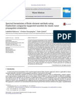 Spectral Formulation of Finite Element Methods Using Daubechies Compactly-supported Wavelets for Elastic Wave Propagation Simulation