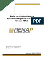 Reglamento de Organizacion Funciones Renap