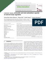 Phenolic Acids, Flavonoids and Total Antioxidant Capacity