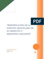 """Evidencia 6 Ejercicio Práctico """"Identificación de La Posición Arancelaria de Su Producto y Requisitos Asociados"""""""