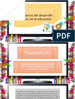 Importancia Del Desarrollo Humano en La Educacion