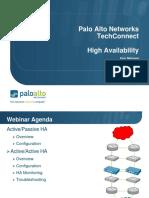 Palo Alto High Availability