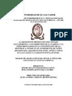 DEFICIENTE PROTECCIÓN DEL ESTADO SALVADOREÑO, A LOS DERECHOS DE LA FAMILIA Y LA NIÑEZ REGULADOS EN LA CONSTITUCIÓN DE LA REPÚBLICA, INCIDE EN EL INCREMENTO DE NIÑEZ ABANDONADA, MALTRATO INFANTIL, NIÑOS Y NIÑAS EN LAS
