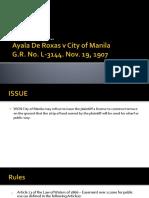 Ayala de Roxas v City of Manila