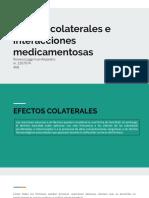 Efectos Colaterales e Interacciones Medicamentosas