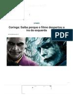 Coringa_ Saiba Porque o Filme Despertou a Ira Da Esquerda