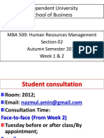 MBA 509 HRM Sec 2 Lecture 1 and 2 Handout
