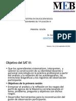 Primera sesión SAT III 21 sept
