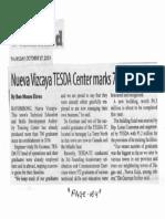 Manila Standard, Oct. 17, 2019, Nueva Vizcaya TESDA Center marks 700 graduates.pdf