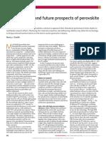 2018Snaith-Present Status and Future Prospects of Perovskite Photovoltaics