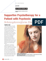 (2006) Supportive Psychotherapy for Patient With Psychosis Schizophreniform Disorder