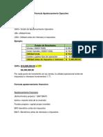 Formula de Apalancamiento Operativo