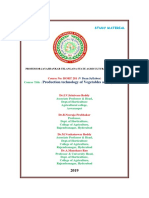 HORT 281 Production Technology of Vegetables and Spices NOTES by Dr. IVS Reddy v Dean (Revised )