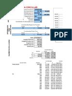 Plantilla excel formulada para el calculo de curvas INVIAS