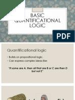 Basic Quantificational Logic (1)