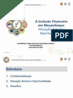 2018 PPT 3. a Inclusão Financeira Em Moçambique Situação Actual e Oportunidades Carla Rosario Fernandes May 28th