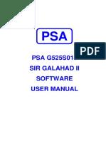 G525S018 Sir Galahad Software Manual