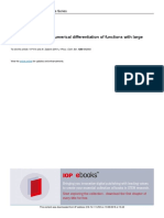Adaptive Formulas of Numerical Differentiation of