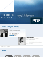 Digital Academy 2015 - Session 1 - The Digital Overview 1-Converted